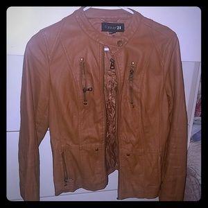 Women's Biker Jacket (Caramel)